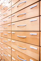 Pharmacy cabinet closeup