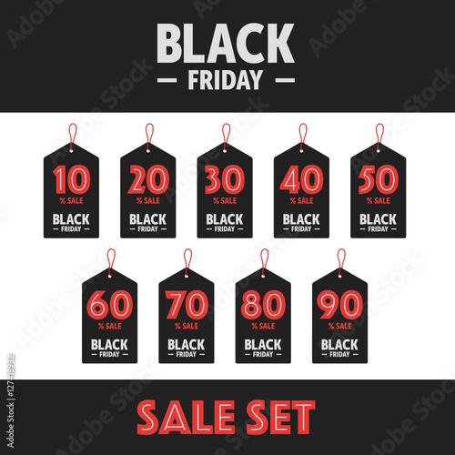 black friday labels stockfotos und lizenzfreie vektoren auf bild 127418932. Black Bedroom Furniture Sets. Home Design Ideas