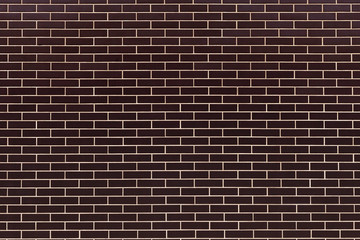 wall of dark brown ceramic bricks, ceramic tiles