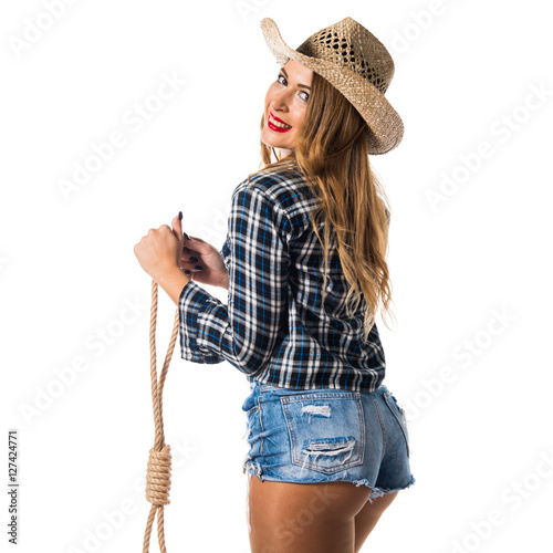 quotsexy blonde woman cowgirlquot stock photo and royaltyfree
