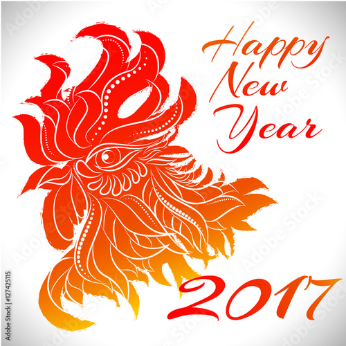 newyear bird symbol of 2017 yearhead of rooster chinese bird zodiac animal sign - Chinese New Year Sign