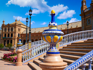 Seville Sevilla Plaza Espana Andalusia Spain
