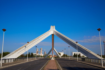Seville Puente de la Barqueta bridge Sevilla