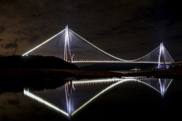Yavuz Sultan Selim Bridge in Istanbul, Turkey