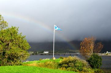 Scottish Flag at Eilean Donan