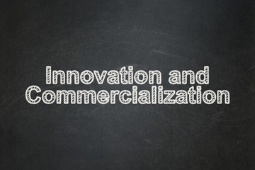 Science concept: Innovation And Commercialization on chalkboard background
