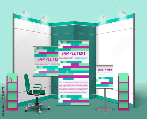 Exhibition Stand Quotation Format : Quot exhibition stand design template stock image and royalty