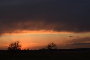Orange Cloudscape