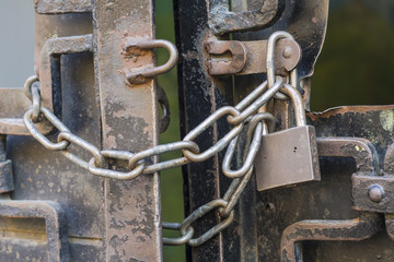 large metal chain and padlock