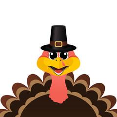 Turkey Pilgrimin hat on Thanksgiving Day