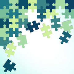 Abstract colorful background of puzzle pieces