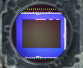 Close-up of digital phone camera sensor