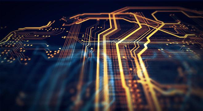 Orange and green technology background/Orange and green technology background circuit board and html code