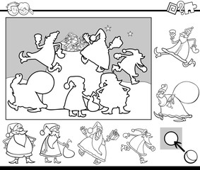 match objects game coloring page
