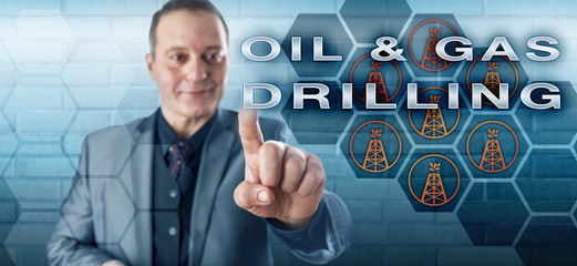 Business Executive Touching OIL & GAS DRILLING