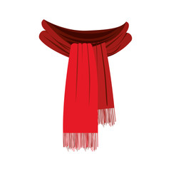 scarf with fringe icon image vector illustration design
