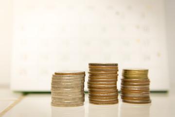 Coin in Saving money concept