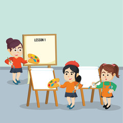 art lesson illustration design