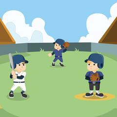 baseball match illustration design