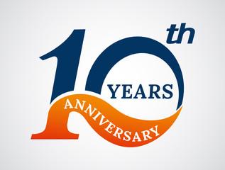 Template logo 10th anniversary years logo.-vector illustration