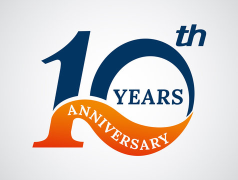 Template logo 10th anniversary years logo.-vector illustration