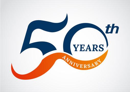 Template logo 50th anniversary years logo.-vector illustration