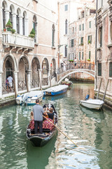 Traditional canal in Venice from one of the most beautiful viewp