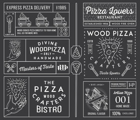 Masters and lovers of pizza white on black