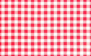 Red picnic cloth background.
