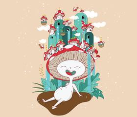 Mushroom character design