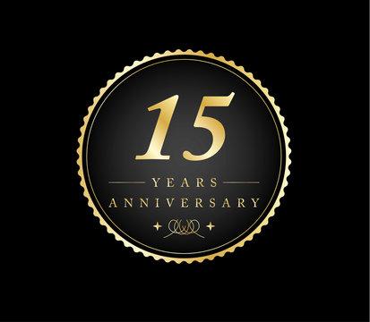 15 years anniversary gold