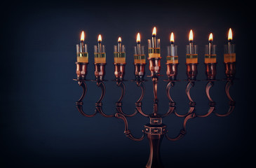Low key of jewish holiday Hanukkah background