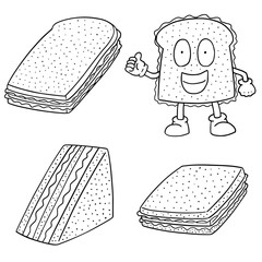 vector set of sandwiches