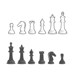 chess label, badge and design element
