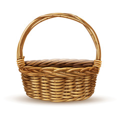 Basket Realistic Side View Image