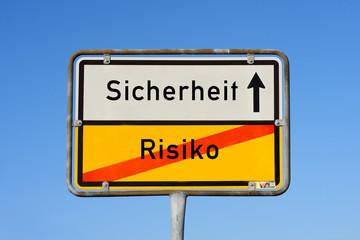 Schild Sicherheit Risiko