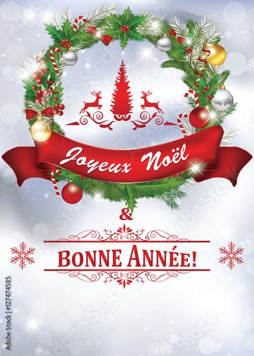 Fabulous Joyeux Noel et une Bonne Annee! Carte de voeux 2017 pour Nouvel An  BF44