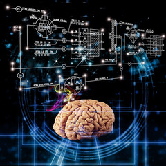 Science research high mind in technology