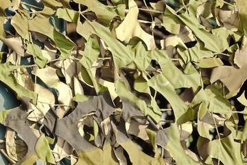 Army Military Weathered Masking Camouflage Net And Tarp Backgrou