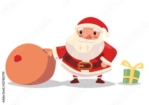 Pap noel en navidad stock image and royalty free vector files on pic 127482799 - Papa noel vector ...