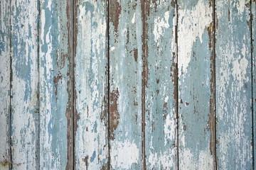 Old Peeled Blue Shabby Wood Wall Horizontal Vintage Background T