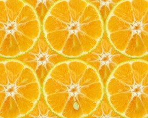 Texture of orange slices. Fruity background