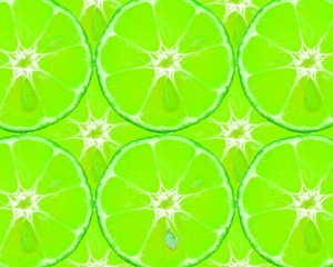 Texture of lime slices. Fruity background