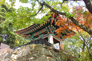 Belfry of the temple, Jecheon, South Korea : That temple is called 'jeongbangsa'