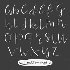 Unique hand drawn font. Vector illustration