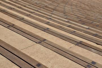 amphitheater seats rows Red Rocks, Morrison, Colorado