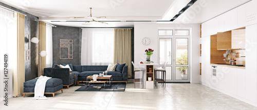 Modern living room for 212 salon oak park