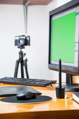photo designer , retouching pictures, photo workspace / graphic designer during retouching pictures / photographer during retouching pictures