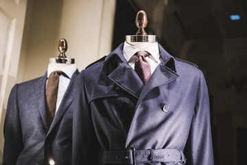 Men clothing from fall winter collection in Milan