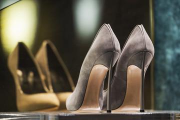 Women shoes in a luxury store